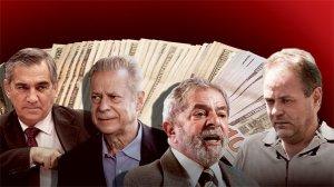 O PODER E O CRIME - Enivaldo Quadrado (à direita), o chantagista, é pago pelo PT para manter em segredo o golpe que resultou no desvio de 6 milhões de reais da Petrobras, em outro caso de chantagem que envolve o ministro Gilberto Carvalho, o mensaleiro José Dirceu e o ex-presidente Lula. Reprodução