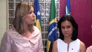A ex-prefeita Lêda Borges e a atual, Lucimar. Reprodução
