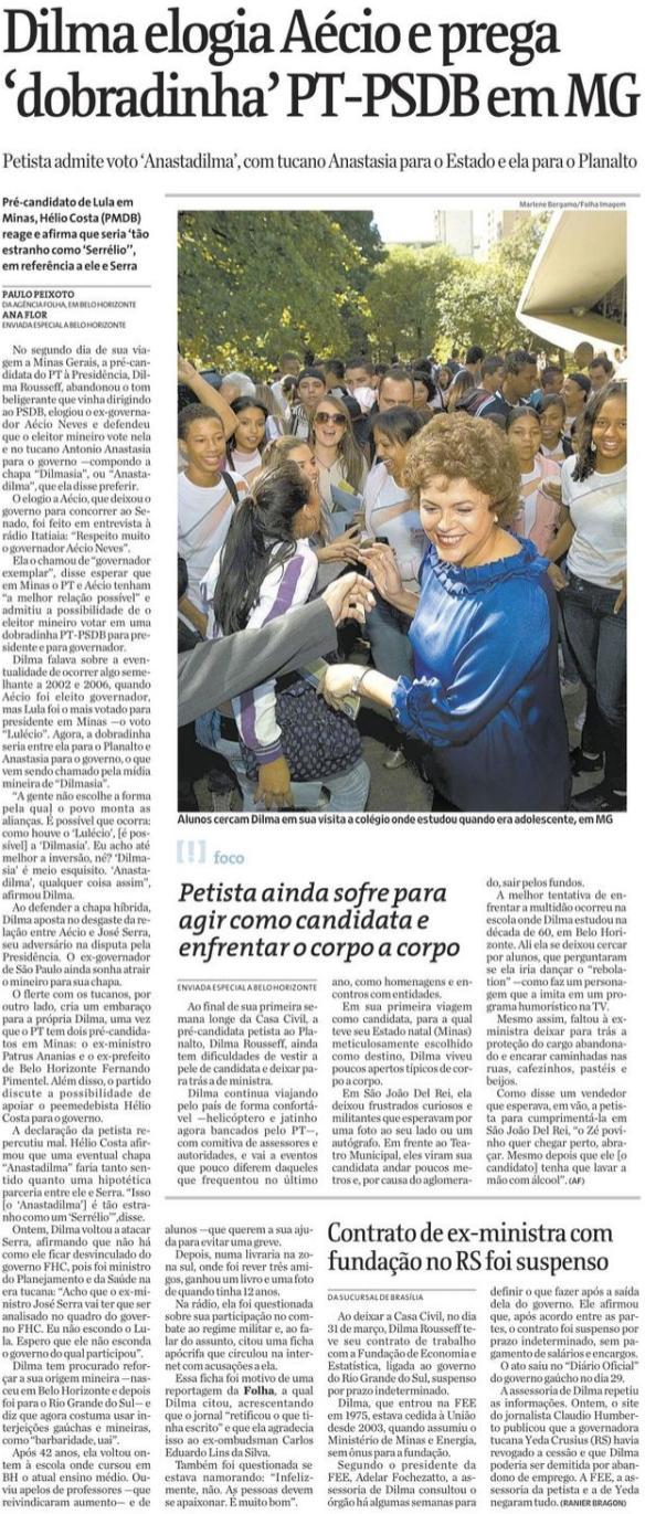Fonte: Folha de São Paulo
