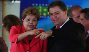 A presidente Dilma Rousseff e o senador Gim Argello. Reprodução
