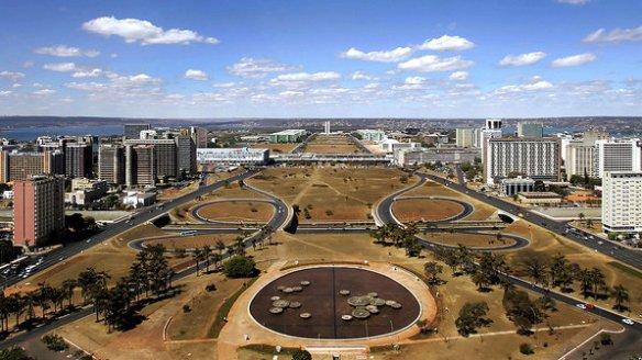 Os edifícios da Esplanada dos Ministérios, em Brasília (Evaristo SA/AFP/VEJA)