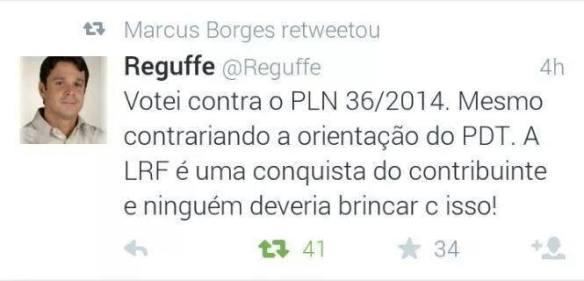Reguffe no Twitter
